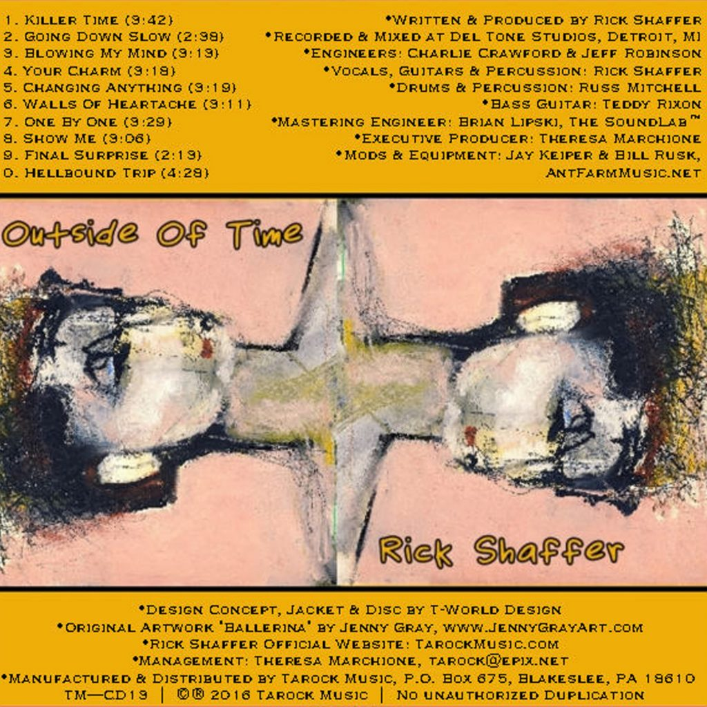 Rich Shaffer, Outside of Time, Music Review, Album Review, Music Blog, Music Magazine,