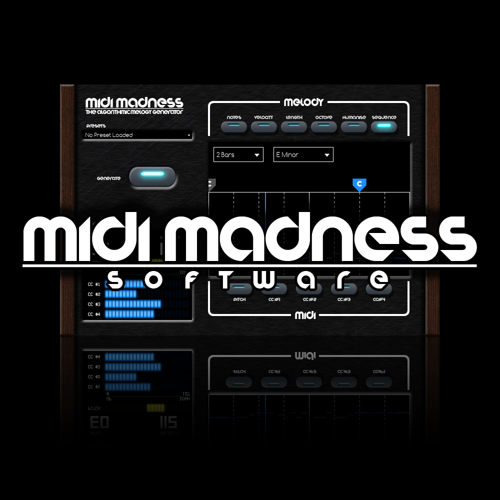 Midi Madness Software, Midi Madness 2, Music Software, Producers, EDM, Plugins,