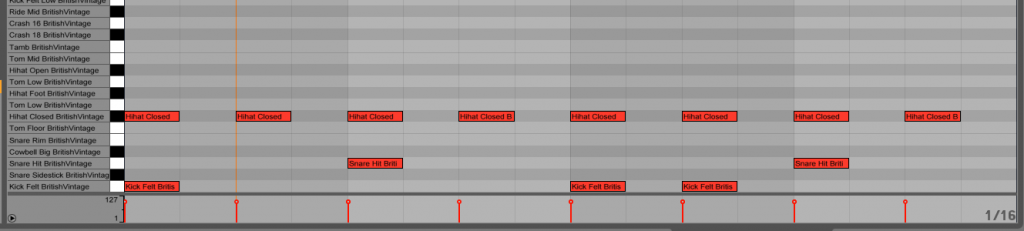 01. A basic drum pattern