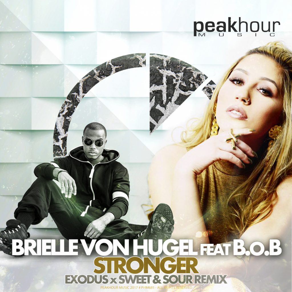 Brielle Von Hugel, Stronger, Remix, Exodus, B.o.B, Music Review, Single Review, Independent Music, New Music Blog,